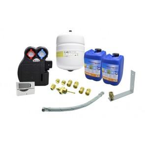 Kit idraulico completo per impianto solare circuito forzato 2 collettori