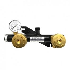 Centralina compatta con manometro e valvola di sicurezza coll. 2 bombole
