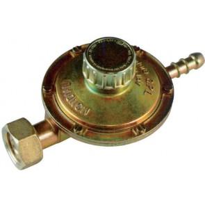 Regolatore gas con taratura regolabile attacco orizzontale 1 kg/h
