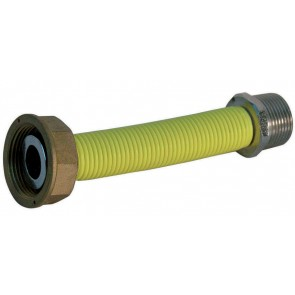 """Flessibile inox per contatore gas mf cm20 1"""" 1/4 x 1"""""""