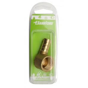 Raccordo portagomma a gomito f per gas blister 1/2 gpl