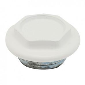 """Tappo cieco dx / sx zincato verniciato per radiatori fl 48 1"""" sx bianco"""