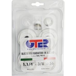 "Kit blister per radiatori in acciaio fl 56 1""1/4 x 3/8"