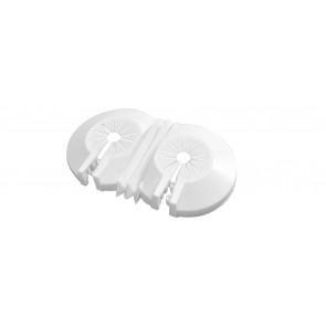 Rosetta materiale plastico universale doppia diam. 10-22 mm