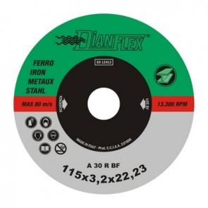 Disco abrasivo per ferro mm 115 x sp. 1.6 ferro-inox