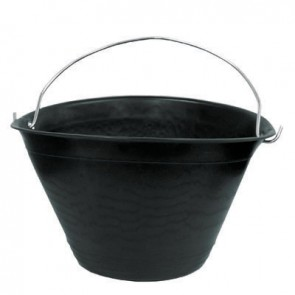 Caldarella in plastica nera diam. 34