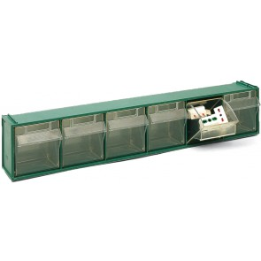 Cassettiera sovrapponibile in pp fox 102 - mm 600x94x h112 verde lxpxh mm 600x94xh.112
