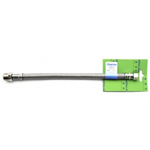 Flessibile inox modello normale cm 30 s-brico ff 1/2 x 1/2
